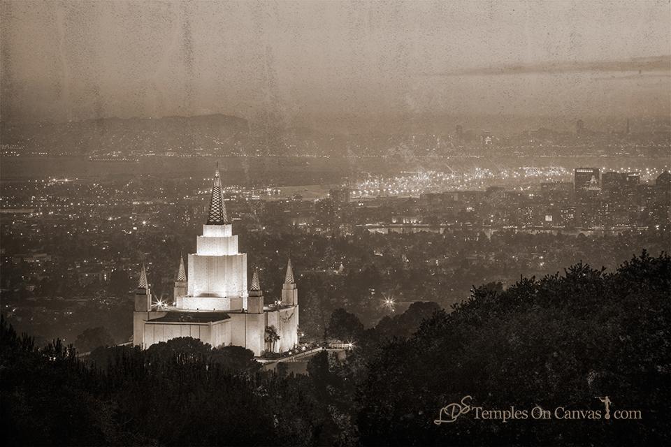 Oakland California Temple - Beacon of Light - Rustic
