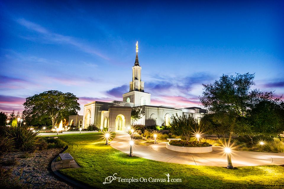 Sacramento California LDS Temple - Peaceful Dusk - Full Color
