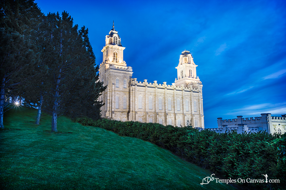 Manti Utah LDS Temple - Beacon of Light - Full Color Print