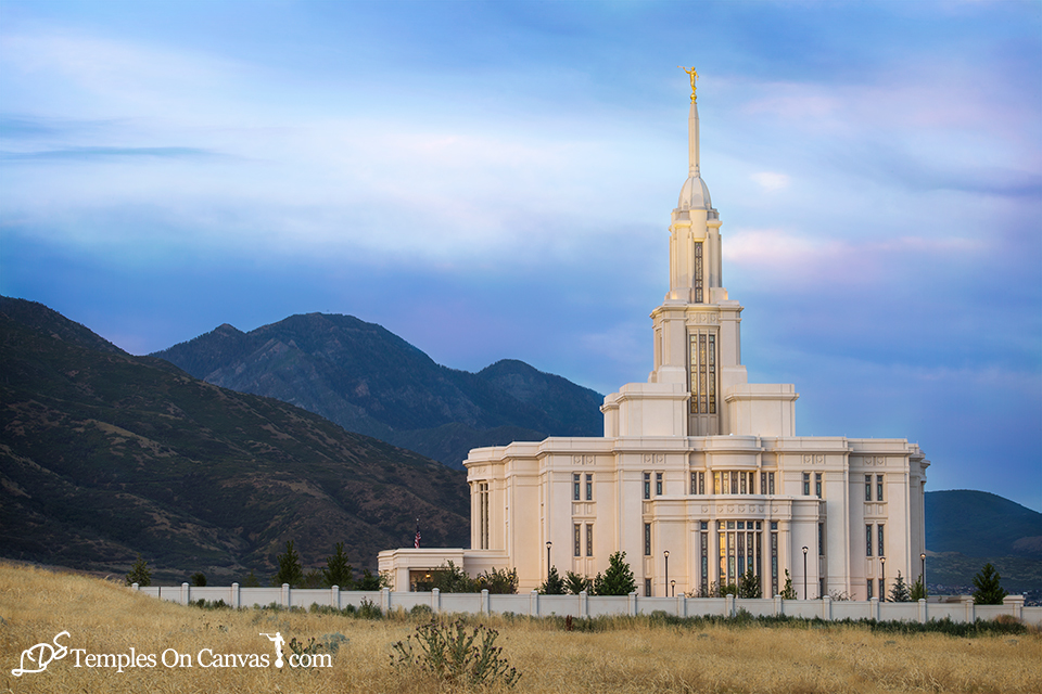 Payson Utah LDS Temple - Mountain of the Lord - Full Color