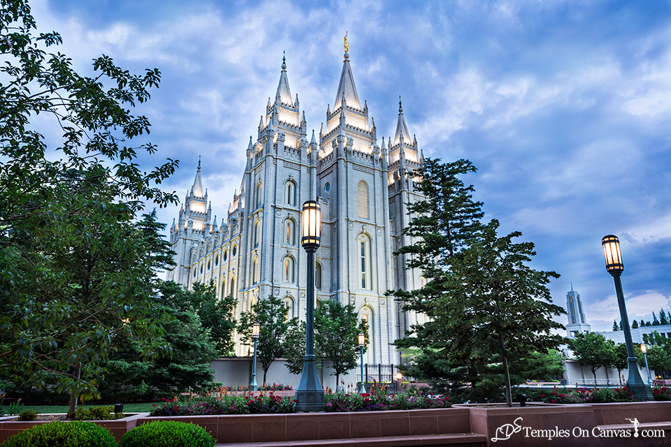 Salt Lake UT LDS Temple - Pioneer Temple - Full Color Print