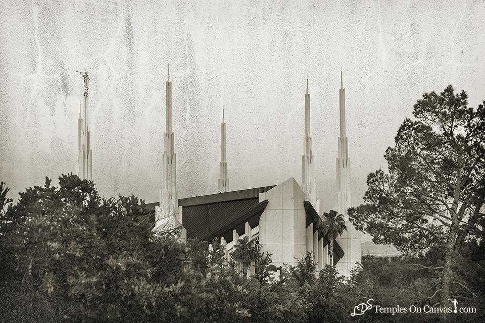 Las Vegas NV LDS Temple - Heavenward - Rustic Print