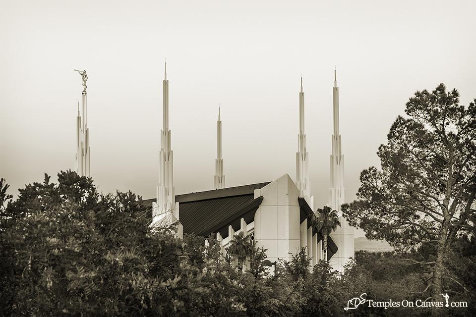 Las Vegas NV LDS Temple - Heavenward - Sepia Print