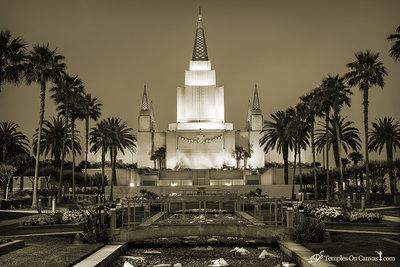 Oakland CA LDS Temple - Heavenward - Sepia Print