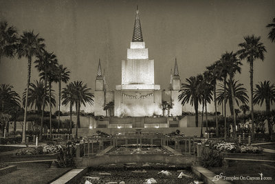Oakland CA LDS Temple - Heavenward - Rustic Print