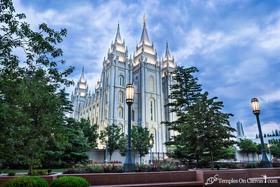 Salt Lake UT LDS Temple - Pioneer Temple - Full Color Print
