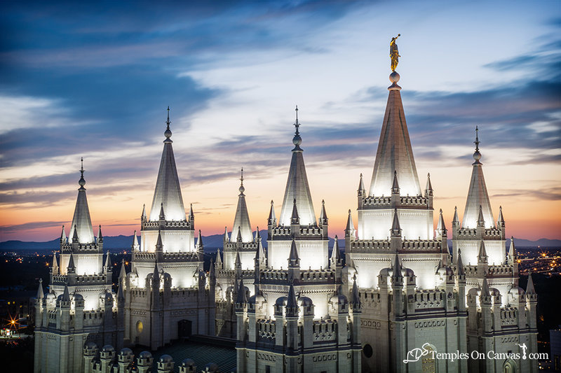 Salt Lake City Utah LDS Temple - Heavenward