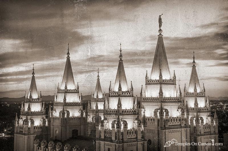 Salt Lake City Utah LDS Temple - Heavenward - Rustic