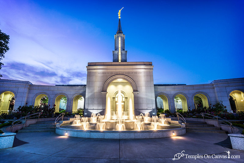 Sacramento California LDS Temple - Living Water - Full Color
