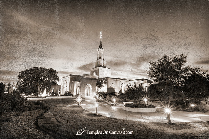 Sacramento California LDS Temple - Peaceful Dusk - Rustic