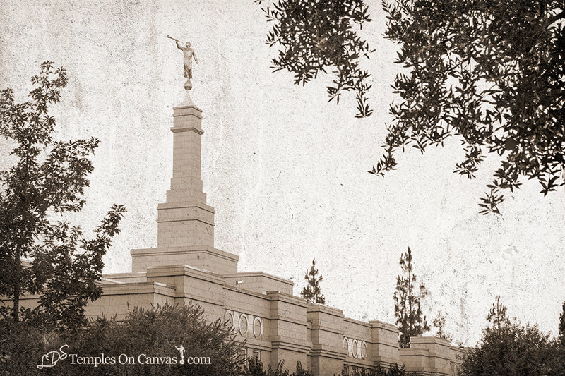 Fresno California LDS Temple - Heavenward - Rustic