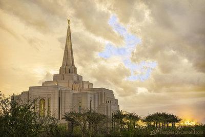 Gilbert Arizona LDS Temple - Windows of Heaven - Color