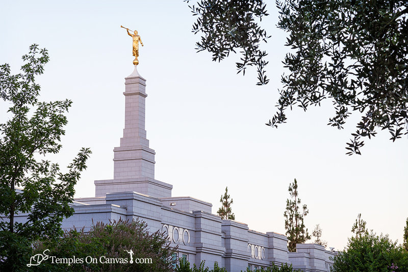 Fresno California LDS Temple - Heavenward - Color