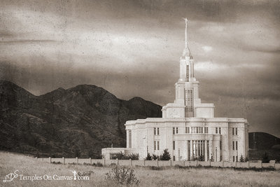 Payson Utah LDS Temple - Mountain of the Lord - Rustic