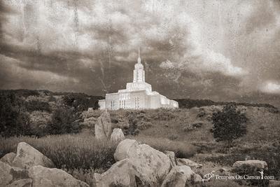 Draper Utah LDS Temple - Mountain of the Lord - Rustic