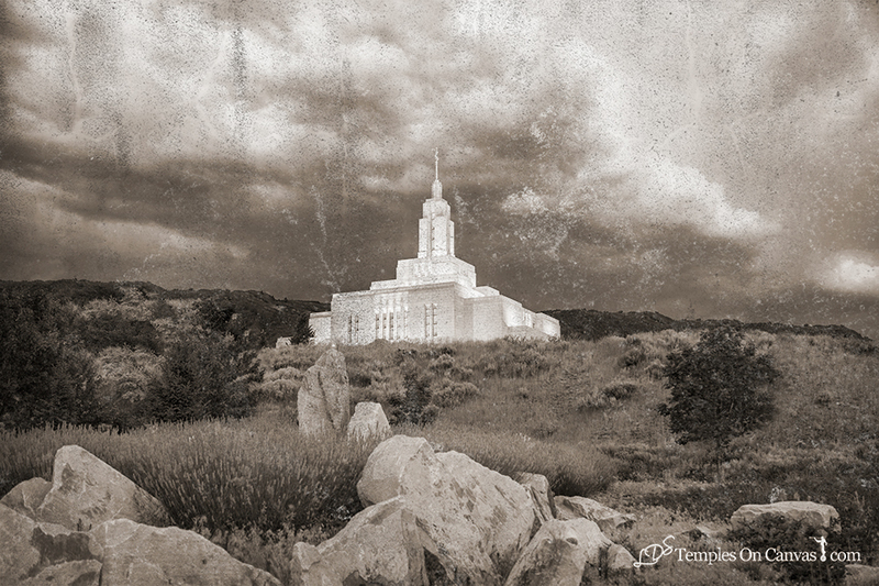 Draper Utah LDS Temple - Mountain of the Lord - Rustic