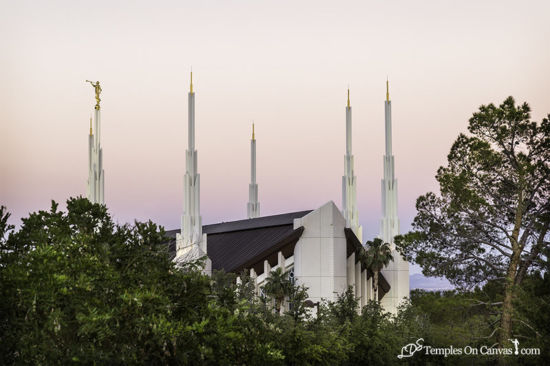 Las Vegas NV LDS Temple - Heavenward - Full Color Print
