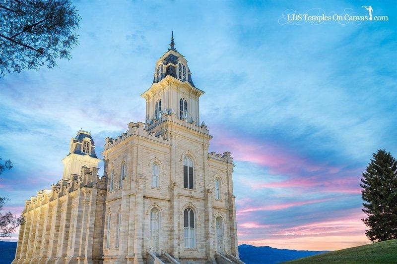 Manti Utah LDS Temple - Summer Sunset - Full Color