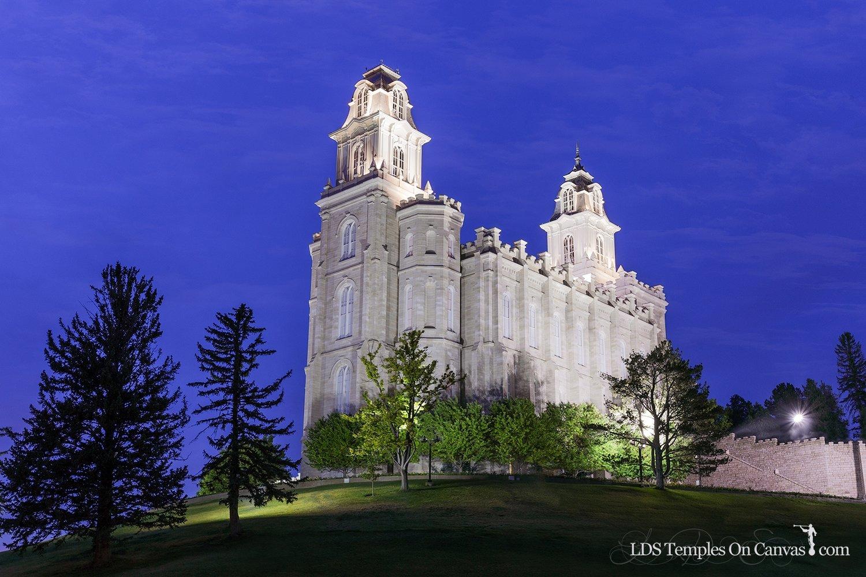 Manti Utah LDS Temple - Beacon of Light - Full Color