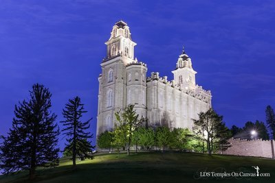 Manti Utah LDS Temple - Beacon of Light - Full Color