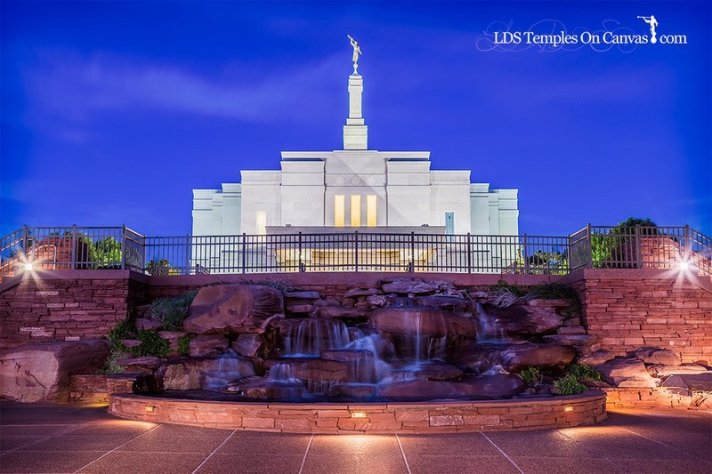 Snowflake Arizona LDS Temple - Living Water - Full Color