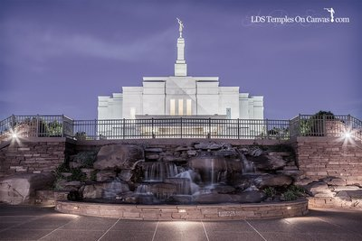 Snowflake Arizona LDS Temple - Living Water - Tinted Black and White