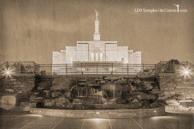 Snowflake Arizona LDS Temple - Living Water - Rustic