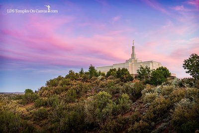 Snowflake Arizona LDS Temple - Mountain of the Lord - Full Color