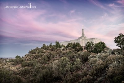 Snowflake Arizona LDS Temple - Mountain of the Lord - Tinted Black and White