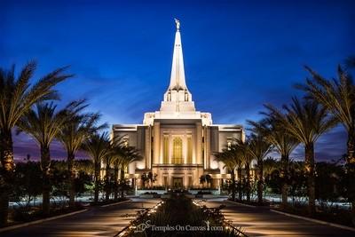 Gilbert Arizona LDS Temple - Live True - Full Color