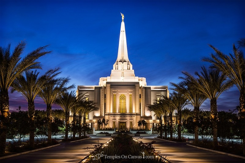 Gilbert Arizona LDS Temple - Live True - Full Color