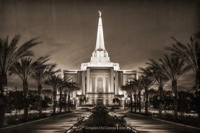 Gilbert Arizona LDS Temple - Live True - Rustic