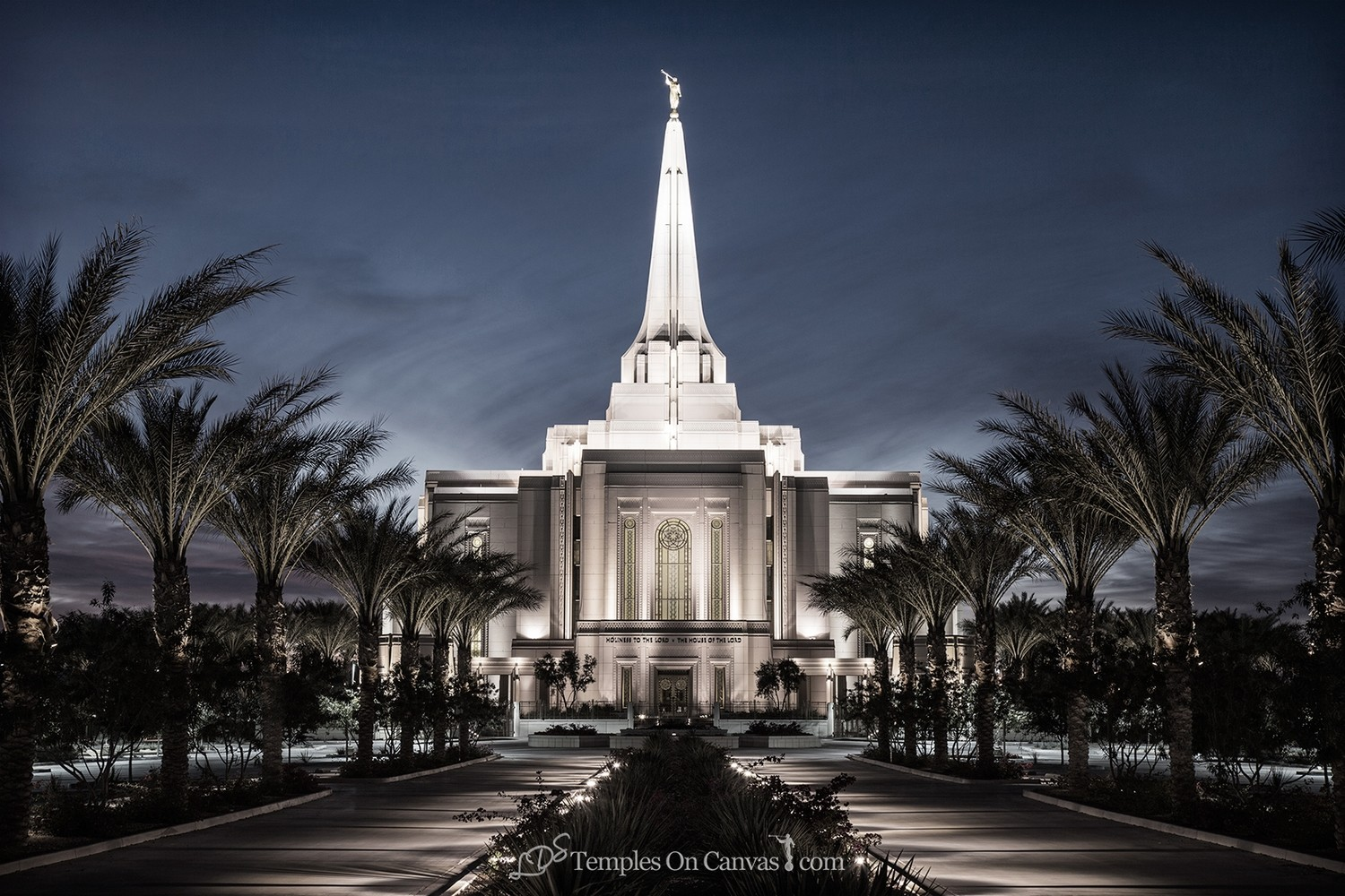 Gilbert Arizona LDS Temple - Live True - Tinted Black & White