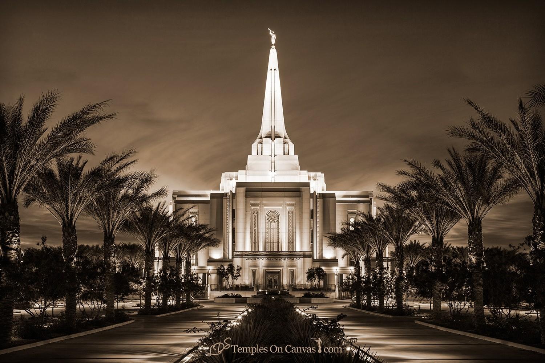 Gilbert Arizona LDS Temple - Live True - Sepia