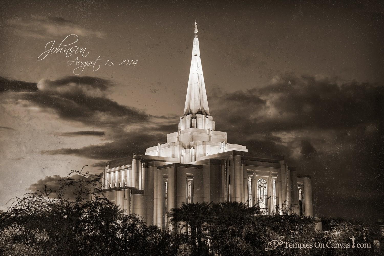 Gilbert Arizona LDS Temple - Tis Eventide - Rustic