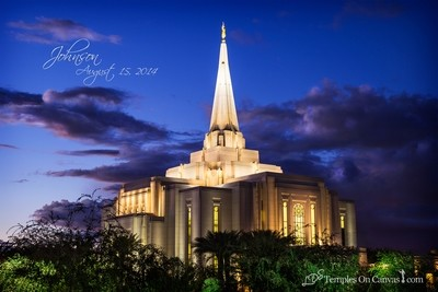 Gilbert Arizona LDS Temple - Tis Eventide - Full Color