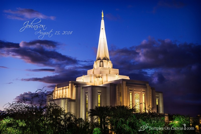 Gilbert Arizona LDS Temple - Tis Eventide - Full Color