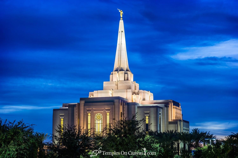 Gilbert Arizona LDS Temple - Peaceful Dusk - Color