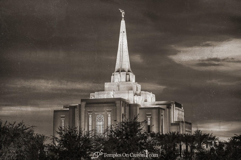 Gilbert Arizona LDS Temple - Peaceful Dusk - Rustic