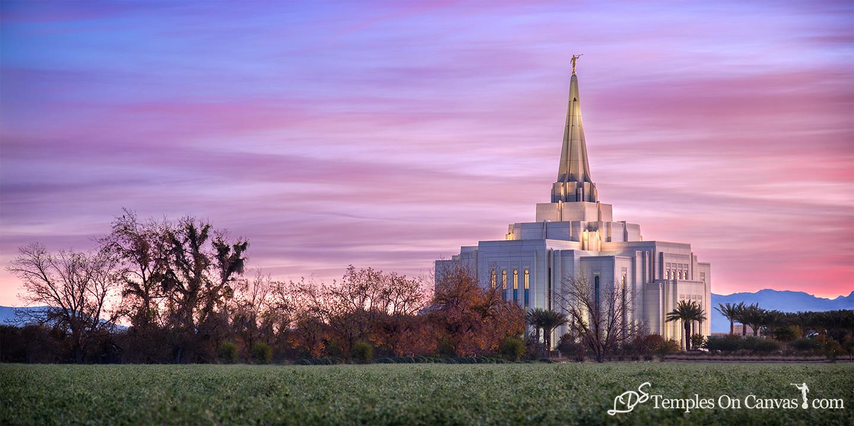 Gilbert Arizona LDS Temple - Beacon of Light - Full Color