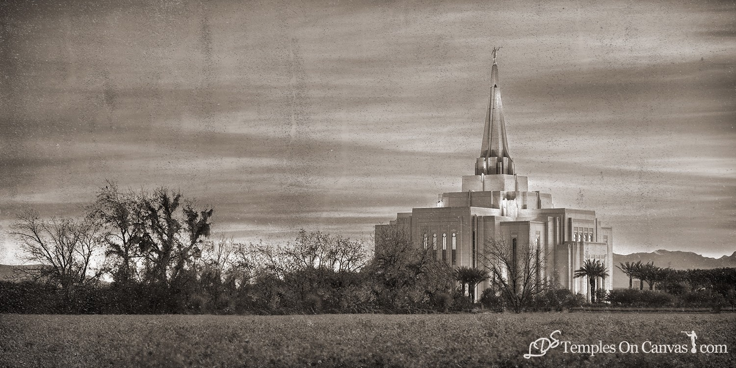 Gilbert Arizona LDS Temple - Beacon of Light - Rustic