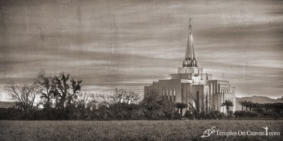 Gilbert Arizona LDS Temple - Beacon of Light - Rustic