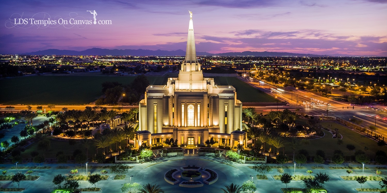 Gilbert Arizona LDS Temple - Midst of Heaven - Color