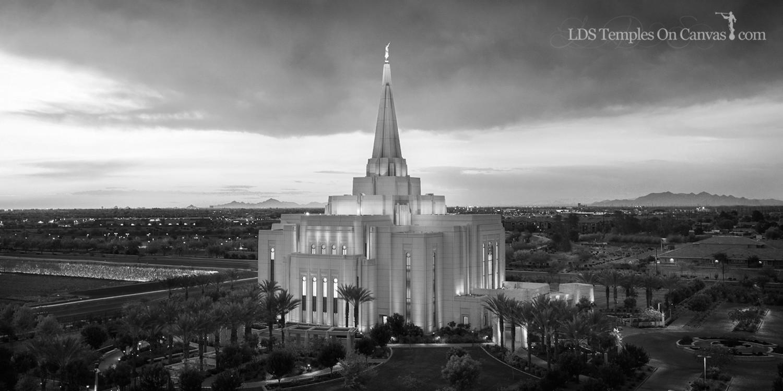 Gilbert Arizona LDS Temple - Midst of Heaven - Black & White