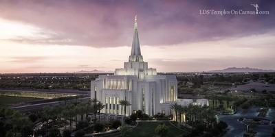 Gilbert Arizona LDS Temple - Midst of Heaven - Tinted Black & White
