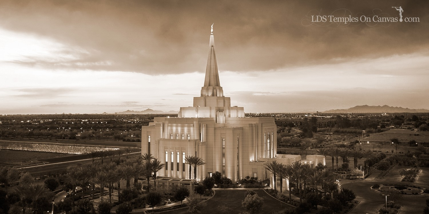 Gilbert Arizona LDS Temple - Midst of Heaven - Sepia