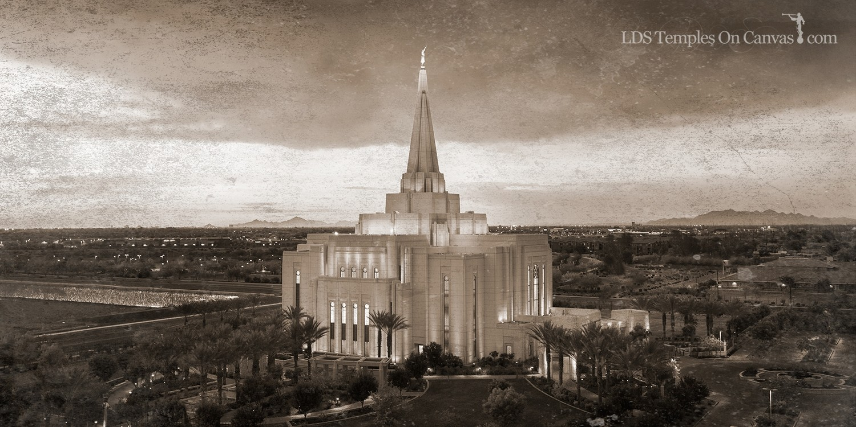 Gilbert Arizona LDS Temple - Midst of Heaven - Rustic