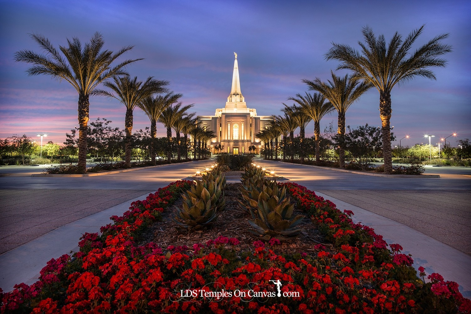Gilbert Arizona LDS Temple - Heavenly Path - Color
