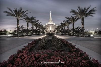 Gilbert Arizona LDS Temple - Heavenly Path - Tinted Black & White