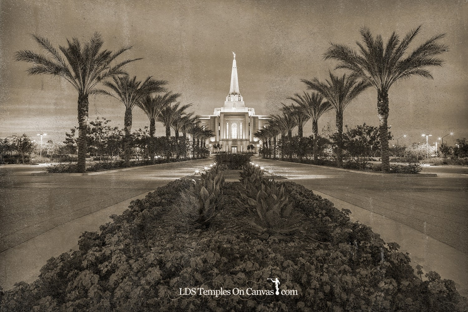 Gilbert Arizona LDS Temple - Heavenly Path - Rustic